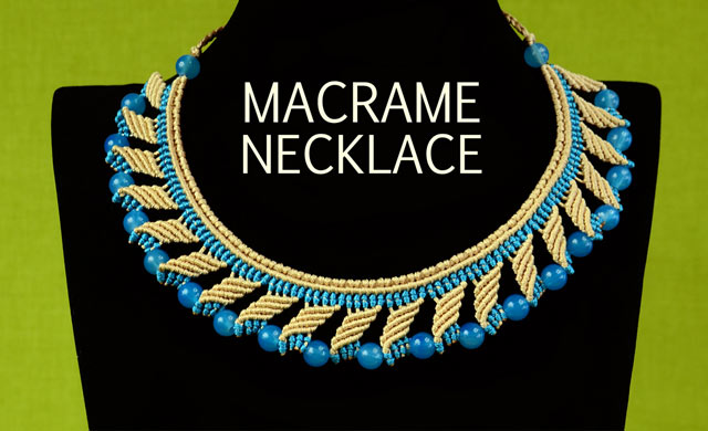 Nefertiti Macrame Necklace