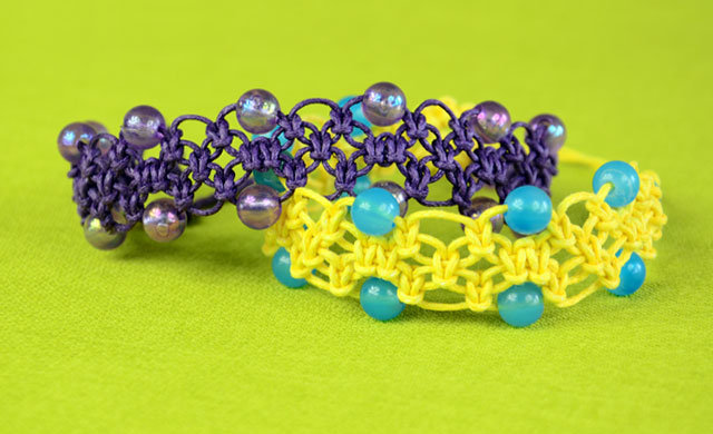 Beaded Square Knot Bracelets