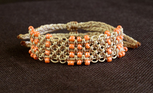 Beaded Square Knot Bracelet