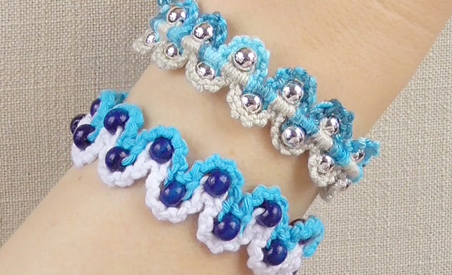 DIY Bracelet - Waves with Beads