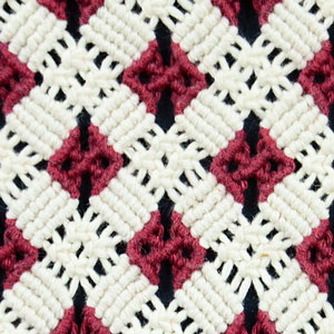 Macrame ABC/Pattern sample #17