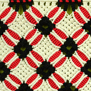 Macrame ABC/Pattern sample #20
